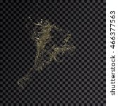 splash gold 3d transparent... | Shutterstock . vector #466377563