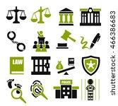 court  tribunal  judiciary icon ... | Shutterstock .eps vector #466386683