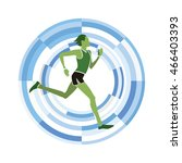 man figure running. sports... | Shutterstock .eps vector #466403393