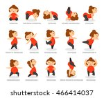 yoga poses vector | Shutterstock .eps vector #466414037