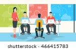 businesswoman teacher people... | Shutterstock .eps vector #466415783