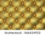 3d render of the golden quilted ... | Shutterstock . vector #466424933