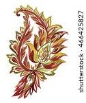 beautiful paisley. watercolor... | Shutterstock . vector #466425827