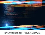 digital code number abstract... | Shutterstock . vector #466428923
