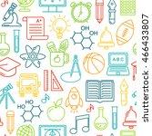seamless  school background....   Shutterstock . vector #466433807