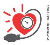 arterial blood pressure... | Shutterstock .eps vector #466434533