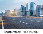 city empty traffic road with... | Shutterstock . vector #466440587
