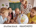 pupils curious of the world | Shutterstock . vector #466454093
