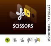 scissors color icon  vector...