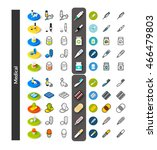 set of icons in different style ... | Shutterstock .eps vector #466479803