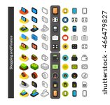 set of icons in different style ... | Shutterstock .eps vector #466479827