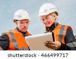 two people working | Shutterstock . vector #466499717