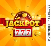 jackpot 777 gambling poster... | Shutterstock .eps vector #466501733