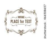 vintage ornate frame vector... | Shutterstock .eps vector #466508657