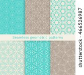 set of six seamless geometric... | Shutterstock .eps vector #466526987