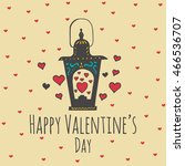 valentines day card with... | Shutterstock .eps vector #466536707