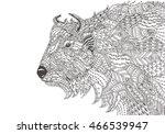 hand drawn aurochs with ethnic...   Shutterstock .eps vector #466539947