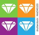 diamond icon. simple logo of...