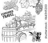 various vineyard travel concept