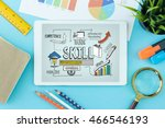 skill concept on tablet pc... | Shutterstock . vector #466546193