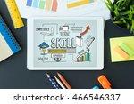 skill concept on tablet pc... | Shutterstock . vector #466546337