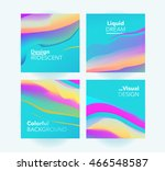 vector set colorful liquid... | Shutterstock .eps vector #466548587
