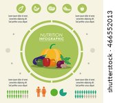 nutrition and healthy food... | Shutterstock .eps vector #466552013