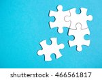 four disconnected jigsaw puzzle ... | Shutterstock . vector #466561817