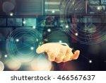 digital technology ... | Shutterstock . vector #466567637