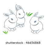 Contour Cute Easter Rabbits...