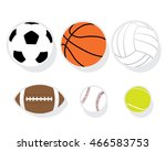 sport ball vector. | Shutterstock .eps vector #466583753