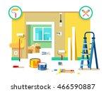 renovation apartment flat design | Shutterstock .eps vector #466590887