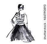 Fashion Portrait Drawing Sketc...
