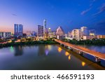 austin  texas  usa downtown... | Shutterstock . vector #466591193