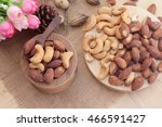almonds and cashew is delicious | Shutterstock . vector #466591427