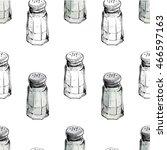 seamless pattern with salt... | Shutterstock .eps vector #466597163