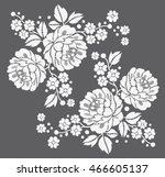 luxury lace pattern design... | Shutterstock .eps vector #466605137