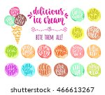 delicious ice cream with... | Shutterstock .eps vector #466613267