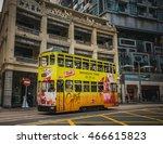 hong kong   dec 10  city tram... | Shutterstock . vector #466615823