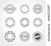 vector badges stickers and... | Shutterstock .eps vector #466621097