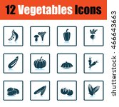 vegetables icon set. shadow...