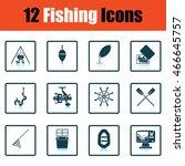 fishing icon set. shadow...