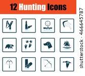 hunting icon set. shadow...