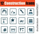 construction icon set. shadow...