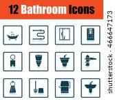 bathroom icon set. shadow...