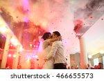 romantic kiss on the dancefloor ... | Shutterstock . vector #466655573