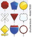 vector traffic signs   Shutterstock .eps vector #46667830