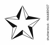 star icon in simple style... | Shutterstock . vector #466680437