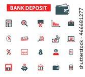 bank deposit icons | Shutterstock .eps vector #466681277