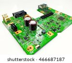 close up pcb board circuit and... | Shutterstock . vector #466687187